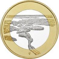 "FINLANDIA  5€ 2.018  2018  Bimetálica ""Paisajes Nacionales – Punkaharju""  SC/UNC T-DL-12.262 - Finland"