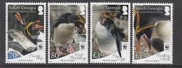 2017 South Georgia WWF Penguins Complete Set Of 4 MNH  @FACE VALUE - Georgias Del Sur (Islas)