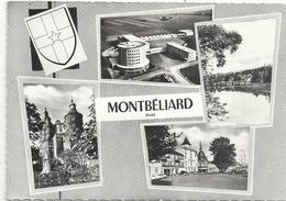 CPM. MULTIVUES  . MONTBELIARD . CARTE ECRITE AU VERSO - Montbéliard