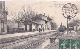 CPA (46) CAJARC La Gare (Intérieur) Train  (2 Scans) - Andere Gemeenten