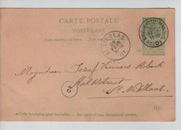 PR6309/ Entier CP Armoiries C.Etoile-Relais Beirvelde(Beervelde) (Destelbergen) 1901 V.St.Niklaas C.d'arrivée - Postmark Collection