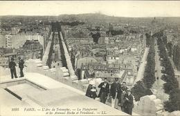 PARIS 8  - L'Arc De Triomphe, La Plateforme Et Les Avenues....         --  LL 1095 - Arrondissement: 08