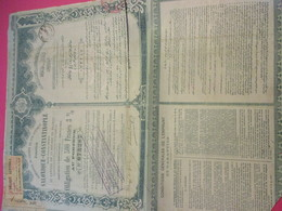 Obligation De 500 Francs 3% Au Porteur /Compagnie Du Chemin De Fer Ottoman/Salonique-Constantinople//1893    ACT170 - Railway & Tramway