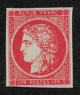 FRANCE 1849 YT 7 - 1F VERMILLON - COPIE/FAUX - 1849-1850 Ceres