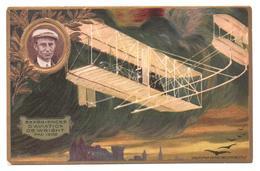 CPA Carte Postale, Cartolina Postale, Postal Card. Lefèvre Utile LU. Aviateur Wright, Pau 1909. Aviatori. - Lu