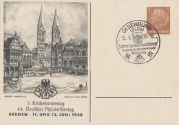 DR Privat-GS Minr.PP122 C86 SST Oldenburg 15.5.38 - Briefe U. Dokumente