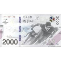 TWN - SOUTH KOREA NEW - 2000 2.000 Won 2018 Winter Olympic Games Pyeong Chang 2018 - AA XXXXXXX B UNC - Corea Del Sud