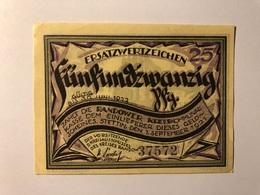 Allemagne Notgeld Stettin 25 Pfennig - [ 3] 1918-1933 : République De Weimar