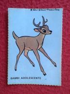 SPAIN ESPAGNE.ANTIGUO OLD CROMO ESTAMPA WALT DISNEY PRODUCTIONS COLLECTIBLE CARD CARICATURA CARTOON BAMBI ADOLESCENTE VE - Cromos