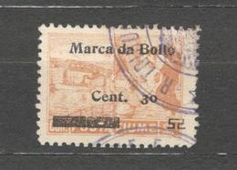 FIUME Marca Da Bollo /Revenue Stamps 1 Coron./30cent. Used - 8. Occupazione 1a Guerra