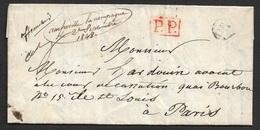 """1848 - LAC - Manuscrit AMFREVILLE LA CAMPAGNE - P.P - A PARIS - Ms AFFRANCHI - """"OR"""" ORIGIN RURAL - CALVADOS - Postmark Collection (Covers)"""