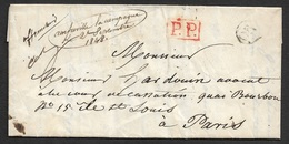 "1848 - LAC - Manuscrit AMFREVILLE LA CAMPAGNE - P.P - A PARIS - Ms AFFRANCHI - ""OR"" ORIGIN RURAL - CALVADOS - Poststempel (Briefe)"