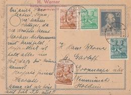 Gemeina. GS Minr.P965 Zfr. Minr.949,2x 951,958 Berlin 25.6.48 - Gemeinschaftsausgaben