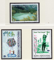2000 - BOSNIA ERZEGOVINA - Mi.  Nr. 201/202+213 - NH - (UP121.27) - Bosnia Erzegovina