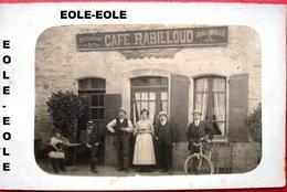 38 - CARTE PHOTO - RUY - Cafe - RABILLOUD - Place De La Fontaine - Restaurant - Devanture - France