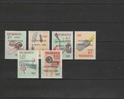 Nicaragua 1964 Olympic Games Tokyo, Table Tennis, Basketball Etc. Set Of 6 With Overprint MNH - Summer 1964: Tokyo