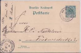 DAHLER-OSTERBY SLESVIG POSTKARTE 1896 FÜR FRIEDRICHSTADT CARTE POSTALE ENTIER POSTAL SCHLESWIG - Schleswig-Holstein