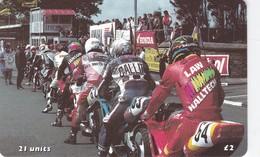 Isle Of Man, MAN 155, TT Racers 2000, Ready For The Start, 2 Scans . Mint, Card Number 0402 - Isla De Man