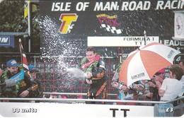 Isle Of Man, MAN 158, TT Racers 2000, Acclaim The Winner, 2 Scans . Mint, Card Number 0402 - Isla De Man