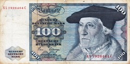 GERMANY 100 MARK 1980 F P-34d (free Shipping Via Registered Air Mail) - 100 Deutsche Mark