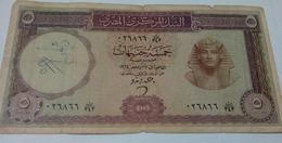 EGYPT- 5 Pounds Banknote - 1964 - P 40 - Sig .ZENDO - Egypte