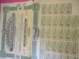 Part De Capital Au Porteur De 50 Francs Entièrement Libérée/Société Nationale De Chemins De Fer En COLOMBIE/1924  ACT171 - Railway & Tramway