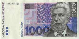 Croatie 1000 Kuna (P35) 1993 -UNC- - Croatie