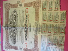Part Privilégiée Au Porteur De 200 Francs Entièrement Libérée/Société Nationale De Chemins De Fer  COLOMBIE/1927 ACT172 - Railway & Tramway