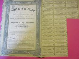 Obligation De 500 Francs Au Porteur/Chemins De Fer De L'EQUATEUR/ Compagnie Française/ Paris/1909      ACT173 - Chemin De Fer & Tramway