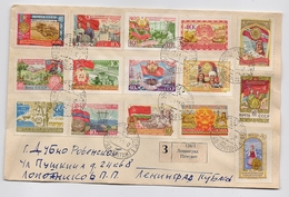 MAIL Post Cover USSR RUSSIA Set Stamp Electricity Republic Worker Tractor Agriculture Leningrad - Briefe U. Dokumente
