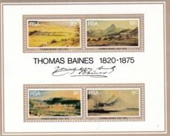 Südafrica, 1975, 476/79 Block 3, 100. Todestag Des Malers Thomas Baines, MNH ** - Südafrika (1961-...)