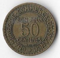 France 1922 50 Centimes [C292/1D] - France