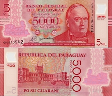 PARAGUAY       5000 Guaraníes      P-234a        2011 (2013)      UNC - Paraguay