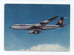Postcard 1970s AIRLINE ISSUE LUFTHANSA AIRPLANE BOEING 707 AIRCRAFT AIRPLANES - 1946-....: Moderne