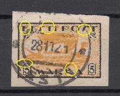 ESTLAND Estonia 1920 Michel 13 Y + Printing ERROR Abart O - Estonie