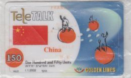 ISRAEL 2002 012 GOLDEN LINES TELETALK 150 CHINA 250 350 THAILAND 3 MINT PHONE CARDS - Israel