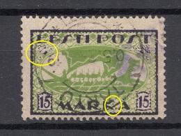 ESTLAND Estonia 1922 Michel 23 B ERROR Abart O - Estonie