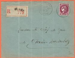 FRANCIA - France - 1941 - 3F Cérès - Recommandée - Viaggiata Da Curel Per Paris - Francia
