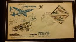 1°  Jour.d'émission..FDC ..MONACO .les Transports Aérien à Travers Les  Ages  1956 - Joint Issues