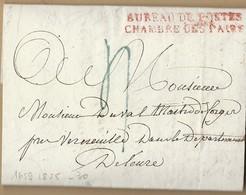 LAC De Paris 20/8/1825 Bureau De Poste Chambre Des Pairs Pour Mieur Duval Mtre Des Forges Dans Leure - 1801-1848: Precursors XIX