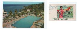Postcard JAMAICA OCHO RIOS Hotel Hotels 1972 STAMP AIRPLANE WOMAN HOSTESS XX JAMAIQUE - Jamaïque