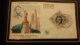 1°  Jour.d'émission..FDC ..MONACO .. Abrahan Lincoln Président Des Etats Unis - Joint Issues