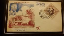 1°  Jour.d'émission..FDC ..MONACO .. F. D. ROSEVELT Président Des états Unis - Joint Issues