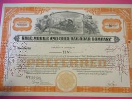 Certificat De 10 Parts De Bénéfice/Gulf Mobile And Ohio Railroad Company / Mississippi/ USA /1945    ACT175 - Chemin De Fer & Tramway