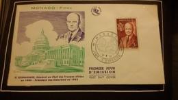 1°  Jour.d'émission..FDC ..MONACO .. D. EISENHOWER Général En Chef De Troupes Alliées En 1944 - Joint Issues