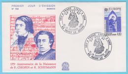 J.M. 23 - Oblitération Manuelle Grand Format - N° 55 - Noisy Le Grand - 1986 - Compositeur - Liszt - Musique