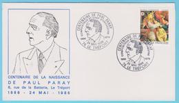 J.M. 23 - Oblitération Manuelle Grand Format - N° 57 - Le Tréport - 1986 - Compositeur - P. Paray - Musique