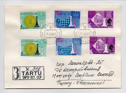 MAIL Post Cover USSR RUSSIA Set Stamp Not Dent Sport Chess - 1923-1991 URSS