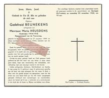 D 632. GODEFROID BEUNEKENS - Oudstrijder 1914/18 - Gepensioneerd Van De Yzerweg - ST-JANS-MOLENBEEK 1884 / 1960 - Devotion Images