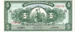 Perù P.83 5  Soles 1965 Unc - Pérou